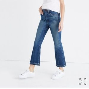 Madewell Retro Crop Boot Cut Tall Jeans Distressed